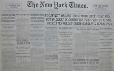 6-1932 JUNE 28 PROHIBITION FDR ORDERS TWO THIRDS RULE. LINDBERG ON STAND TRIAL