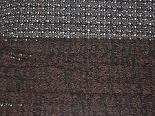 CROCHET WOOL KNIT-BROWN/BLACK-FASHION/CRAFT FABRIC -FREE P+P