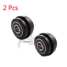 2x Lip Chain Roller Tensioner Pulley Guide 10mm For Pit Dirt Bike Mini Motocross
