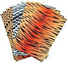 10x Manualidades A4 Tarjeta Hojas Tigre,Leopardo y de la cebra Patrones,