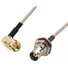 RF pigtail cable RP-SMA male right angle to BNC female RG316 30cm