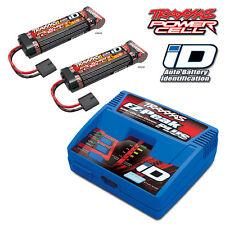 Traxxas EZ-Peak LiPo NiMH iD Charger 2970 w/Two 8.4v 3000mAh NiMH Battery 2923X