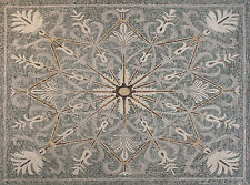 Feathery Star Shape Carpet Art  Stones Marble Mosaic CR1154