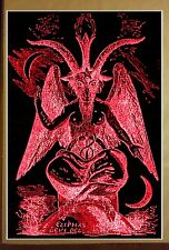 "Baphomet Red Satanic Worship 36 x 24"" Poster Evil Art Devil Hell Death Halloween"