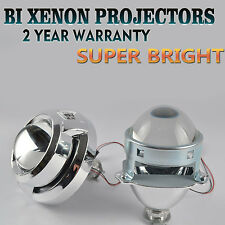 "Pair 3.0"" Mini Bi-Xenon HID Projector Kit Lens Car Hi/Lo Headlights Shroud H1"
