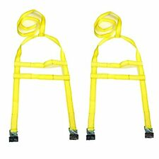 "CESS®13""-20"" SET of 2 Tow Dolly Adjustable Straps CAR TRANSPORT TIE DOWN CLEVIS"