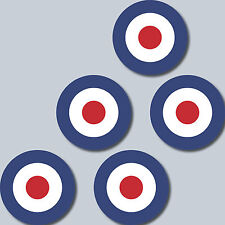 5 Aufkleber 4cm Sticker decal England GB UK Target Mod Scooter Vespa Roller Helm