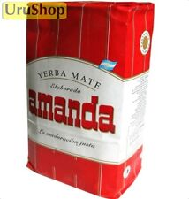 Y42 YERBA MATE AMANDA ROJA 1KG CON PALOS / WITH STEMS HERBAL TEA
