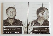 Steve McQueen Mug Shot FRIDGE MAGNET (2 x 3 inches)