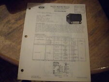 1946 1947 CHEVROLET FLEETMASTER UNITED MOTORS DELCO GM RADIO SERVICE SHOP MANUAL