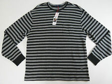 Mens XL Shirt sweater Cremieux Classic 38  Black Striped Crewneck X- Large $69.5