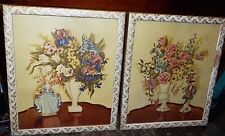 Set of Mid Century FLORAL PICTURES fy Home Interior L@@K