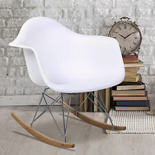 Eames RAR Style Mid Century Modern Molded Plastic Rocking Rocker Shell Arm Chair