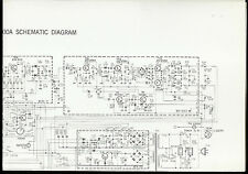 Rare Orig Factory Dokorder 800A AM FM Stereo Receiver Large Schematic Diagram