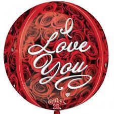 """Orbz:I Love You Roses Foil Balloons - 15""""/38cm x 16""""/40cm"""