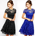 New Sexy Women Summer Lace Floral Evening Party Cocktail Short Mini Dress