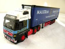 SAICO VOLVO FH12 TRUCK & CURTAINSIDE TRAILER Malcolm logistica - 1:64 LOOSE 82