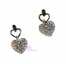Beauty for Ashes Girls Dainty Valentine Heart Love Mini Crystal Stud Earrings