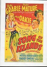 SONG OF THE ISLANDS BETTY GRABLE & VICTOR MATURE RARE CLASSIC ALL REGION DVD