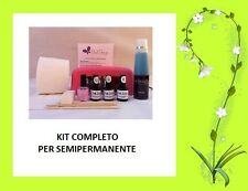 KIT SET TRE SMALTI NAIL GEL SEMIPERMANENTE UNGHIE CON LAMPADA UV