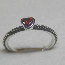 Pandora 190896SGR One Love Red Synt Ruby Heart Ring Size 54 Box Included