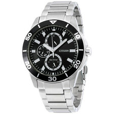 Citizen Eco-Drive Black Dial Stainless Steel Men's Watch AP4030 57E