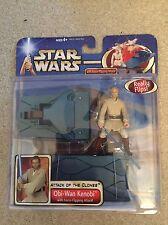 Star Wars Attack of the Clones Obi-Wan Kenobi Deluxe Action Figure Hasbro