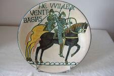 SUPERBE ANCIEN PLAT SIGNE - TAPISSERIES de BAYEUX / DESMANT - FAIRE OFFRE !!