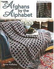 Afghans by the Alphabet Anne Halliday 26 Crochet Patterns Leisure Arts #3379 NEW