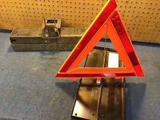 Road Flares Warning Triangles GMC 2234645 New Condition  Metal Case Set of 3