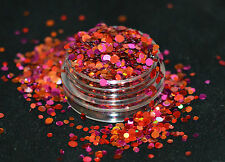 Beautiful Glitter Mix Nail Art Nectarine For Acrylic & Gel Application