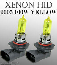JDM 9005 HB3 100W High Beam Xenon HID Replacement Super Yellow Light Bulbs K5536