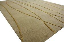 ~ Teppich Original Nepal fein mit Seide ~ 170x240 cm ~ 100 % Wolle beige gold ~