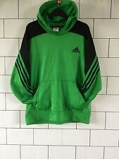 VINTAGE RETRO GREEN ADIDAS CLIMAWARM BASKETBALL SWEATSHIRT SWEATER HOODIE UK M