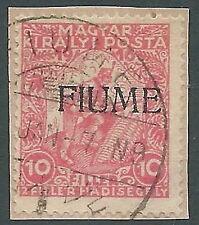 1918-19 FIUME USATO BENEFICENZA 10 F MACCHINA - P58-8