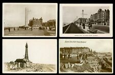 Lancs BLACKPOOL 14 early  PPCs mainly RP real photo