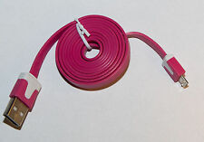 Micro USB cable kabel Flat Slim 1M  PDA Handy cell phone HTC nokia Samsung LG