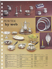 VINTAGE AD SHEET #3189 - PEWTER by WEB