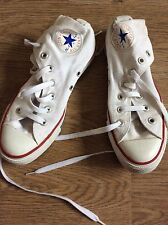 White Converse All Star High Tops, UK Size 5