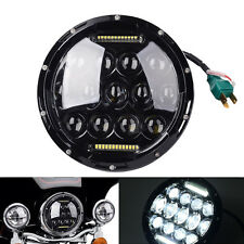 75W 7Inch Led Headlight Round for Harley Davidson Motorcycle Daymaker Road Glide