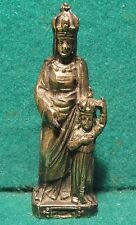 "ST ANNE D'AURAY w/ VIRGIN MARY 3.23"" Old METAL FIGURE STATUE"