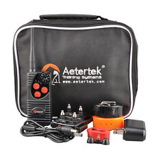 AETERTEK Remote 2 Dog Trainer  Rechargeable Shock Vibration Training Bark Collar