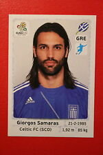Panini EURO 2012 N. 103 HELLAS SAMARAS  NEW With BLACK BACK TOPMINT!!