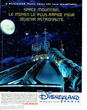 PUBLICITE ADVERTISING 066  1996  Disneyland Paris  Space Mountain
