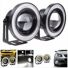 "2pcs 2.5"" Angel Eye White COB Halo Ring LED Projector Car SUV Fog Daytime Light"