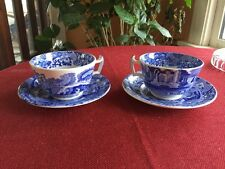 Spode's Blue Italian Copeland Vintage Cup & Saucer Set