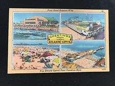 Greetings from Atlantic City NJ Four Good Reasons vacation postcard