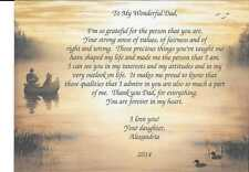 "Personalized Poem ""To My Wonderful Dad"" Nice Gift for Any Occasion Custom"