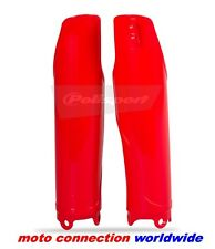 NEW HONDA RED POLISPORT FORK GUARDS CRF250 CRF450 2004-2016 CR125 CR250 04-07