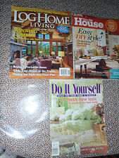Home Improvement agazines lot(3) Log Home Living This Old House Do It Yourself